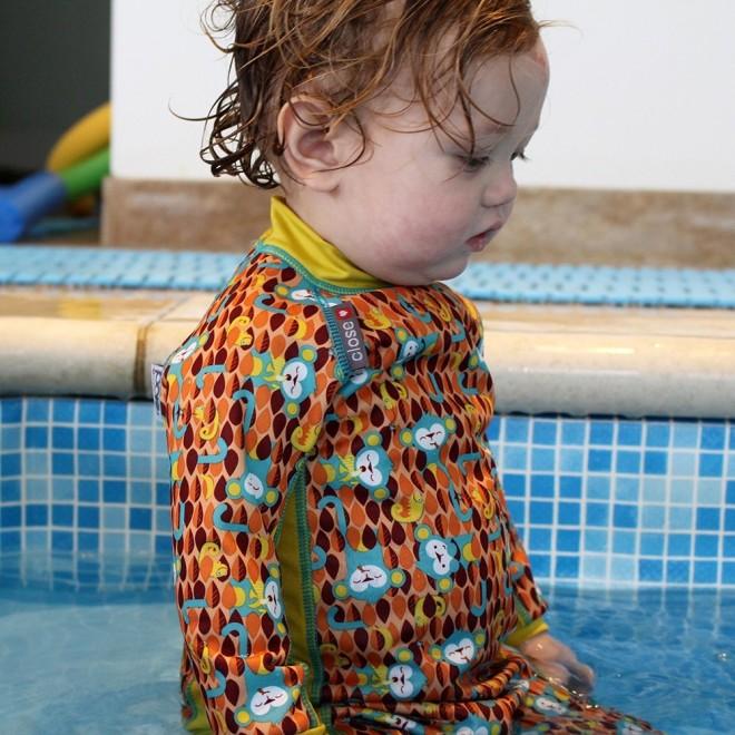 Bañador bebé shortie Pop-in con protección solar Monkey