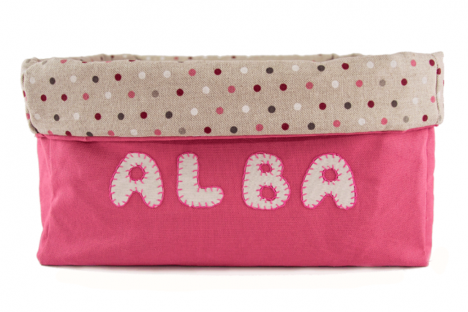 Canastilla bebe rosa personalizada My natural baby box