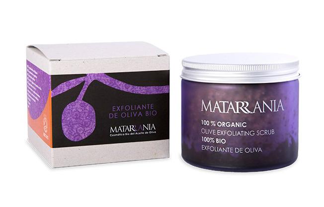 Exfoliante de oliva 100% bio de Matarrania como regalo para el Día de la madre
