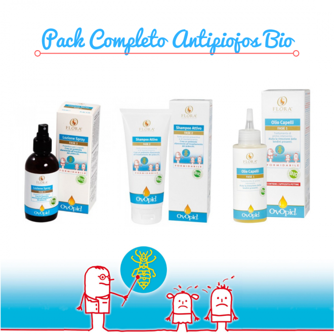 Pack Completo Antipiojos Bio my natural baby box
