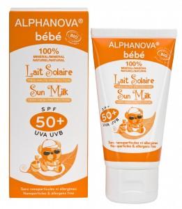 Protector solar ecológico para bebe de protección SPF 50+