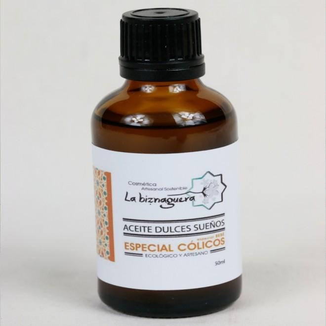 aceite dulces sueños de masaje para cólicos del lactante