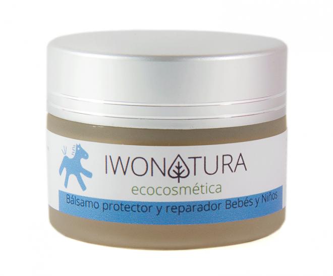 Bálsamo crema de pañal preventiva y reparadora para bebés de piel sensible y piel atópica de Iwonatura