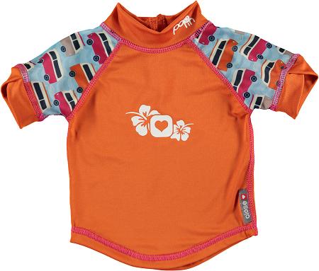Camiseta anti-UV Campervan Blue protección solar bebé Pop-in