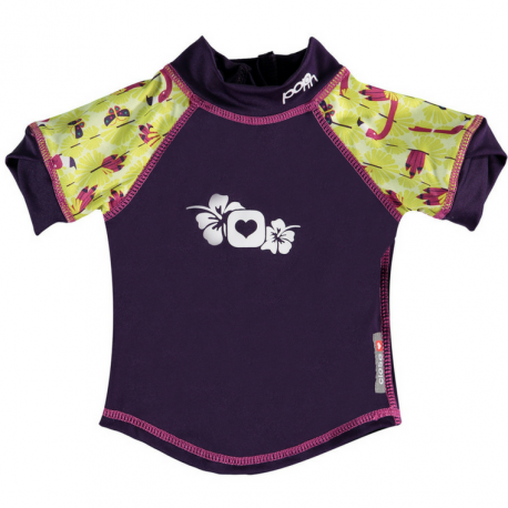 camiseta anti UV bebe pop-in flamingo