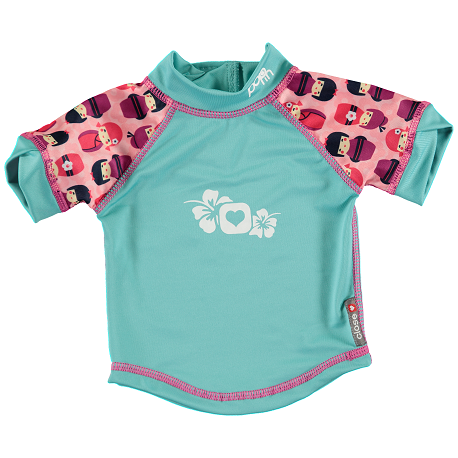 camiseta anti UV bebe pop-in kokeshi doll