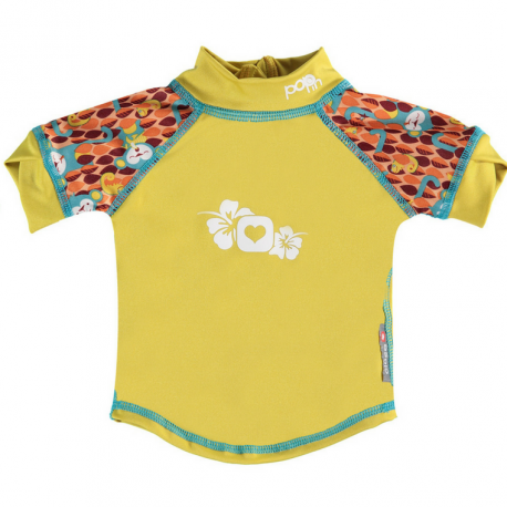 camiseta anti uv bebé pop-in monkey