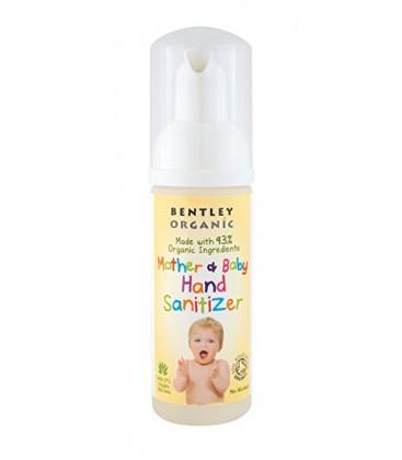 desinfectante de manos bio para mamás y bebés de Bentley Organic - gérmenes en las manos