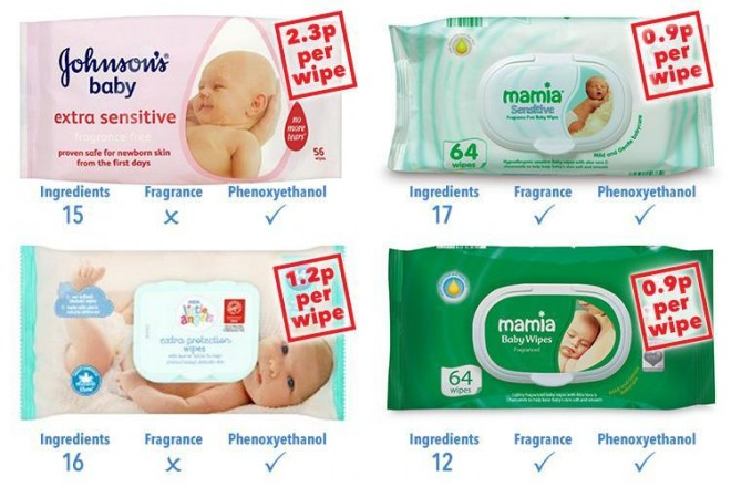 phenoxyethanol en toallitas de bebe